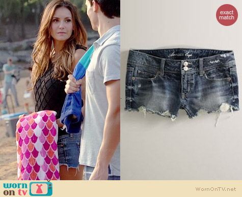 American Eagle Cutoff Denim Shorts worn by Nina Dobrev on The Vampire Diaries
