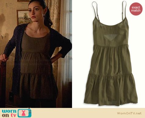 American Eagle Tiered Babydoll Dress worn by Phoebe Tonkin on The Originals