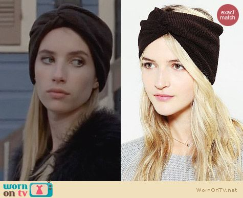 AHS Coven Fashion: Urban Outfitters Waffle Knit Headwrap worn by Emma Roberts
