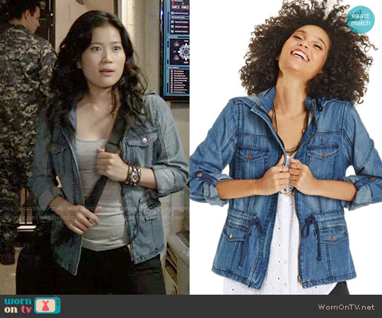 American Rag Denim Anorak Jacket worn by Jadyn Wong on Scorpion
