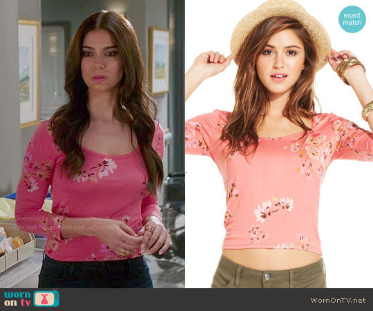 American Rag Floral Print Top worn by Roselyn Sanchez on Devious Maids