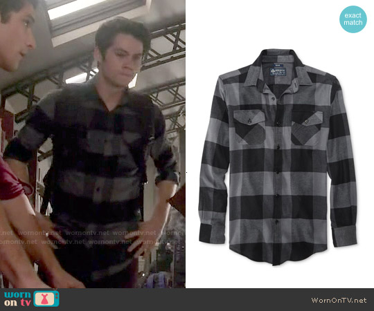 American Rag Frosty Plaid Flannel Shirt worn by Dylan O'Brien on Teen Wolf