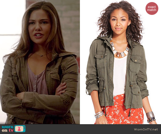 American Rag Hooded Cargo Jacket worn by Danielle Campbell on The Originals