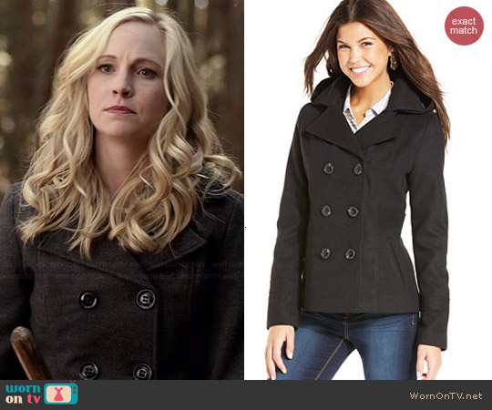 American Rag Hooded Peacoat worn by Candice Accola on The Vampire Diaries