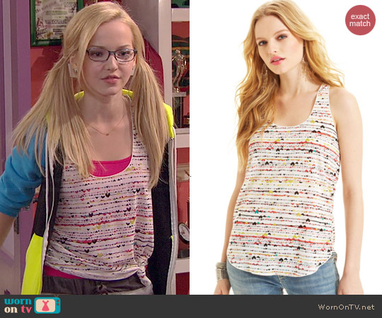 American Rag Printed Racerback Tank worn by Dove Cameron on Liv & Maddie