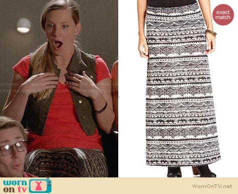 American Rag Tribal Print Maxi Dress worn by Heather Morris on Glee
