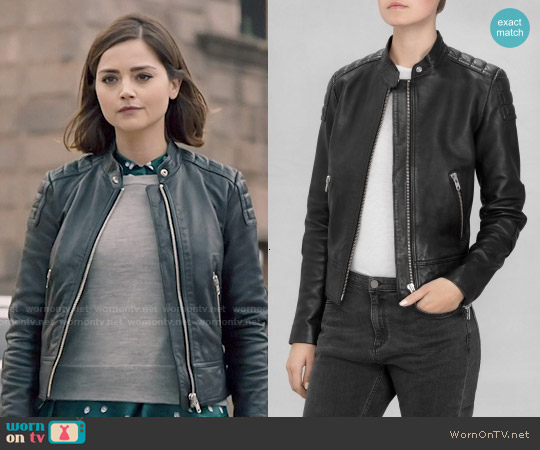 & Other Stories Leather Jacket worn by Clara Oswald on Doctor Who