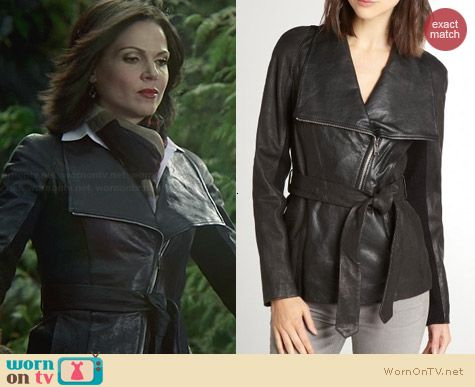 Andrew Marc London 25 Leather Jacket worn by Lana Parrilla on OUAT