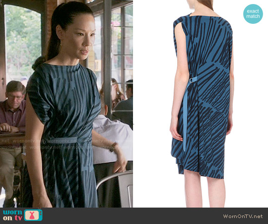 Anglomania Matchstick Cotton Jersey Dress worn by Lucy Liu on Elementary