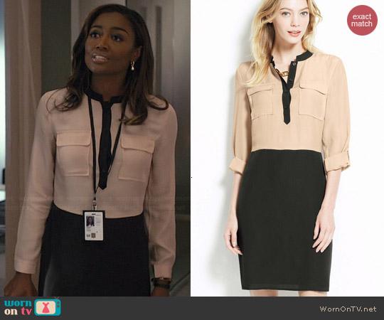 Ann Taylor Colorblock Shirtdress worn by Patina Miller on Madam Secretary