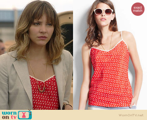 Ann Taylor Sail Print Cami worn by Katharine McPhee on Scorpion