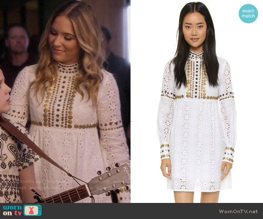 Anna Sui Medallion Embroidery Dress worn by Lennon Stella on Nashville