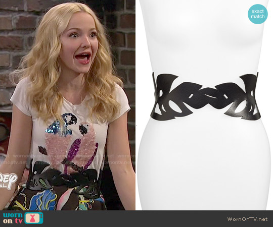 Another Line Leaf Cut Out Belt worn by Liv Rooney on Liv & Maddie