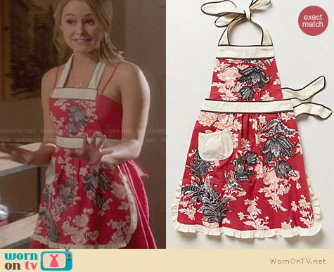 Anthropologie 3D Toile Apron worn by Cassi Thomson on Switched at Birth