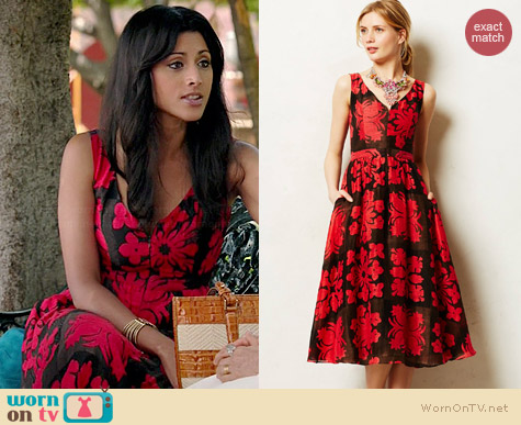Anthropologie Bougainvillea Dress worn by Reshma Shetty on Royal Pains