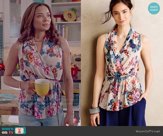 Anthropologie Edria Top worn by Rochelle Aytes on Mistresses