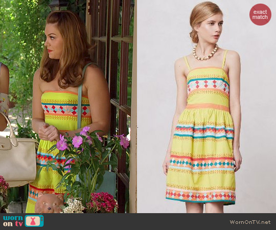 Anthropologie Ribboned Quilotoa Dress worn by Kaitlyn Black on Hart of Dixie