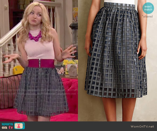 Anthropologie Adrie Skirt worn by Dove Cameron on Liv & Maddie