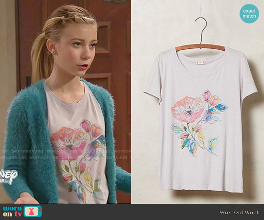 Anthropologie Afternoon Abroad Tee worn by G. Hannelius on Dog with a Blog