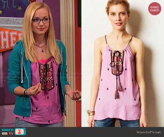Anthropologie Anayet Tank worn by Dove Cameron on Liv & Maddie