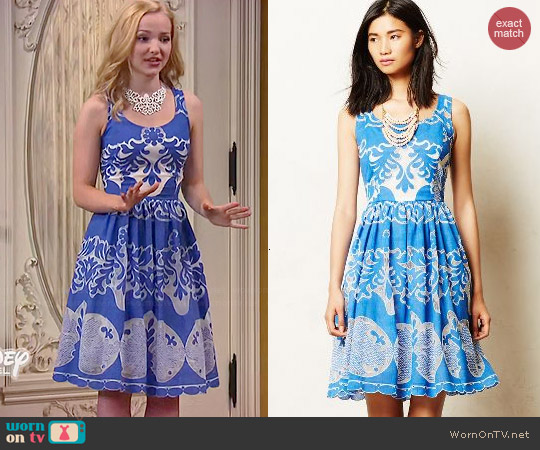 Anthropologie Azure Lace Dress worn by Dove Cameron on Liv & Maddie
