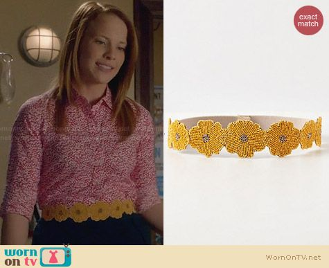 Anthropologie Beaded Daisy Belt worn by Katie Leclerc on Switched at Birth