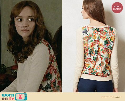 Anthropologie Bloomsbury Pullover worn by Olivia Cooke on Bates Motel