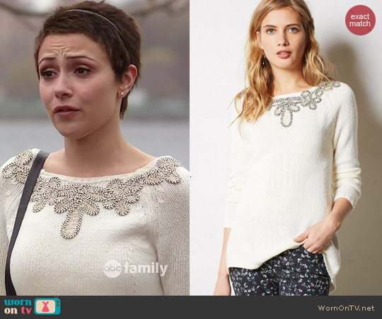 Anthropologie Bobine Sweater Tunic worn by Italia Ricci on Chasing Life