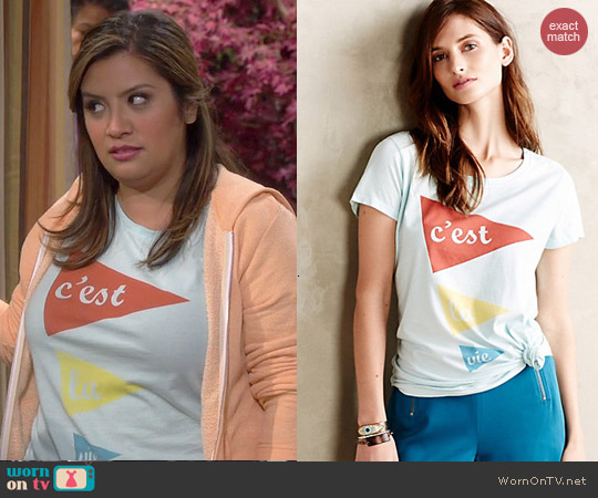 Anthropologie Bonjoyr Tee worn by Cristela Alonzo on Cristela