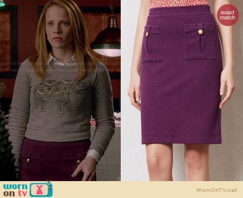 Anthrpologie Bonny Pencil Skirt worn by Katie Leclerc on Switched at Birth