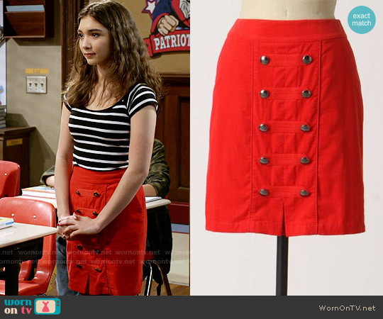 Anthropologie Brigadier Skirt worn by Rowan Blanchard on Girl Meets World