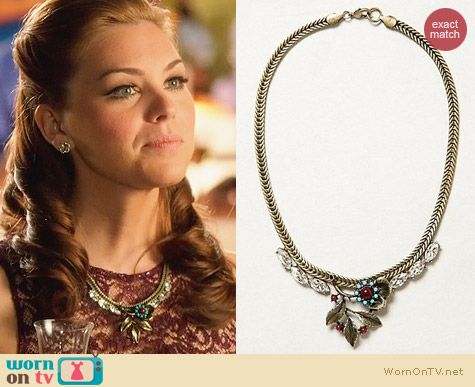 Anthropologie Broderie Necklace worn by Kaitlyn Black on Hart of Dixie