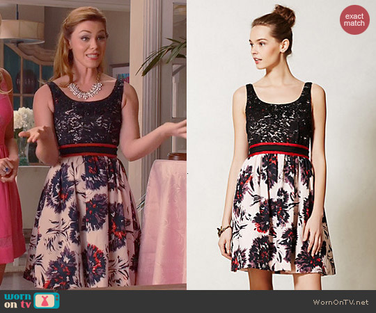 Anthropologie Brushstroke Blossoms Dress worn by Kaitlyn Black on Hart of Dixie