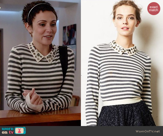Anthropologie Caramella Pullover worn by Italia Ricci on Chasing Life