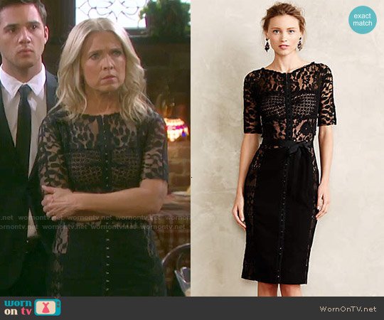Anthropologie Carissima Sheath worn by Melissa Reeves on Days of our Lives