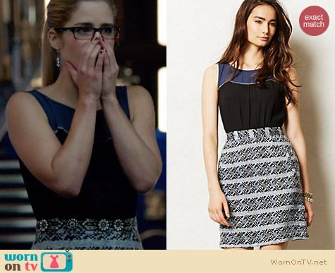 Anthropologie Carrington Dress worn by Emily Bett Rickards on Arrow
