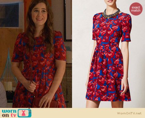 Anthropologie Cheshire Dress worn by Zoe Jarman on The Mindy Project