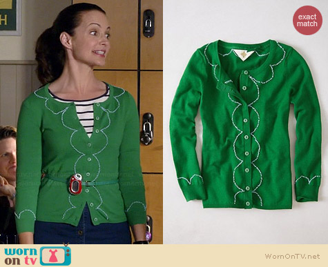 Anthropologie Clipped Etymology Cardigan worn by Kristin Davis on Bad Teacher