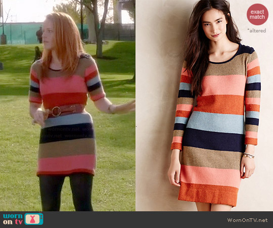 Anthropologie Colorstack Sweater Dress worn by Katie Leclerc on Switched at Birth