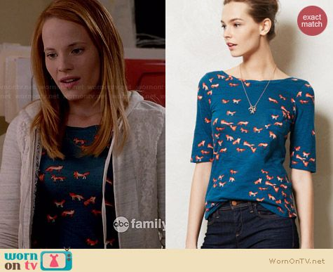 Anthropologie Creature Feature Tee worn by Katie Leclerc on Switched at birth