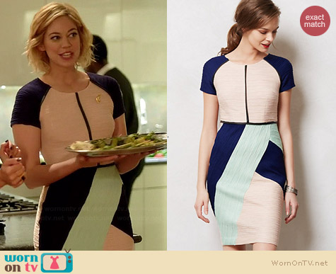 Anthropologie Danita Sheath in Blue worn by Analeigh Tipton on Manhattan Love Story