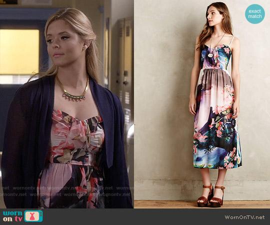 Anthropologie Daybreak Midi Dress worn by Sasha Pieterse on PLL