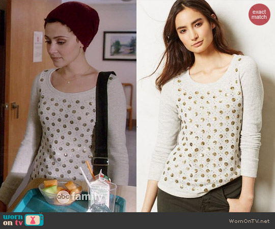 Anthropologie Dazzle Dot Sweatshirt worn by Italia Ricci on Chasing Life