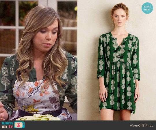 Anthropologie Devery Shirtdress worn by Amanda Fuller on Last Man Standing