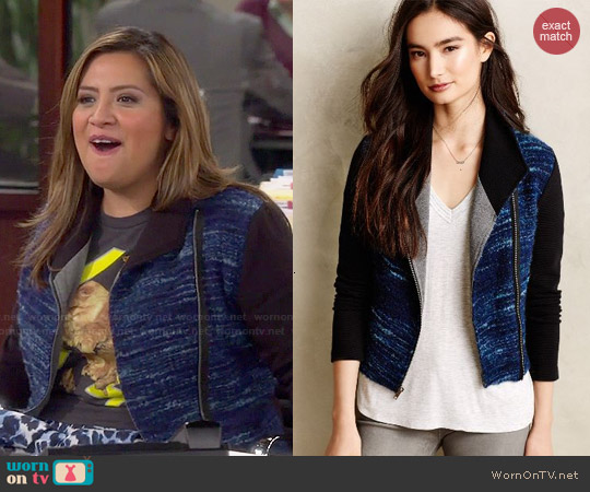 Anthropologie Dolan Boucle Moto Jacket worn by Cristela Alonzo on Cristela