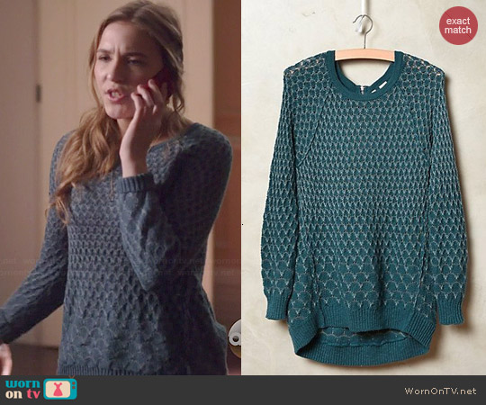 Anthropologie Dot-Dot Sweater worn by Lennon Stella on Nashville