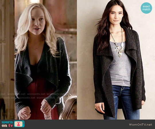 Anthropologie Draped Boucle Cardigan worn by Candice Accola on The Vampire Diaries