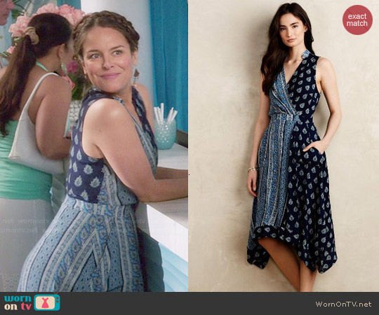 Anthropologie Eclipsed Wrap Dress Yara Martinez on Jane the Virgin