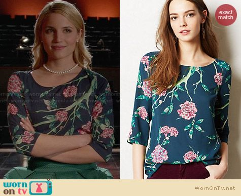 Anthropologie Eira Top worn by Dianna Agron on Glee