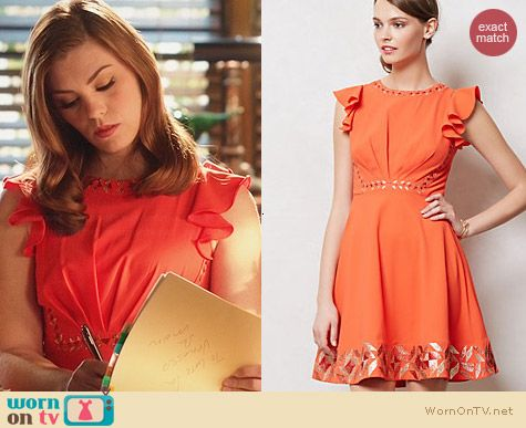 Anthropologie Embroidered Santri Dress worn by Kaitlyn Black on Hart of Dixie